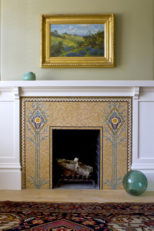 Archetile Commissioned Arts And Crafts Fireplace