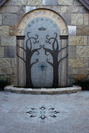 Tile And Stone >> ARCHETILE Commissioned Work: Doors of Durin Fountain